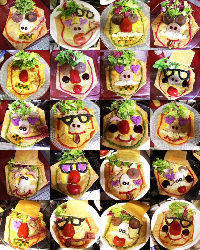 """モンカオ 5/4(月)に開催した、 福笑いビストロ""""monkao(モンカオ)""""。... 福笑いビ"""